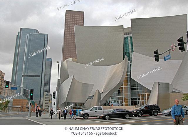 The Walt Disney Concert Hall, California, LA, Los Angeles, North America, USA