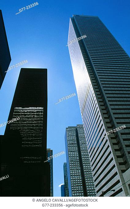 Skyscrapers in the financial district of Toronto. Ontario. Canada