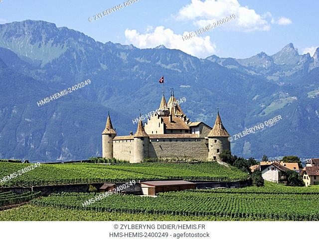 Switzerland, Canton of Valais, Aigle, the castle