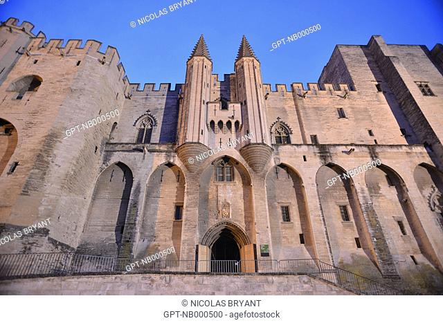 FORMER PONTIFICAL RESIDENCE, BOTH PALACE AND FORTRESS, THE POPES' PALACE WAS THE SEAT OF WESTERN CHRISTIANITY IN THE 14TH CENTURY, AVIGNON, VAUCLUSE (84)