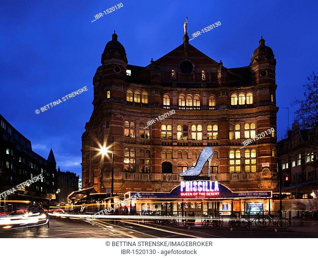 Musical 'Priscilla Queen of the Desert , Palace Theatre at Night, London, England, United Kingdom, Europe
