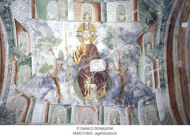 frescoes san pietro al monte abbey, civate, italy