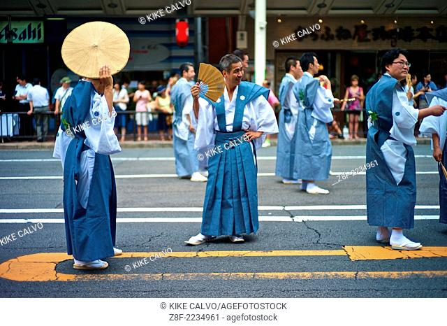 Yamaboko Junko Parade. The Gion Festival ( Gion Matsuri ) takes place annually in Kyoto on July 17 and is one of the most famous festivals in Japan