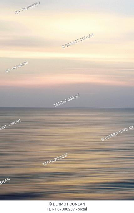 Horizon over water at dusk