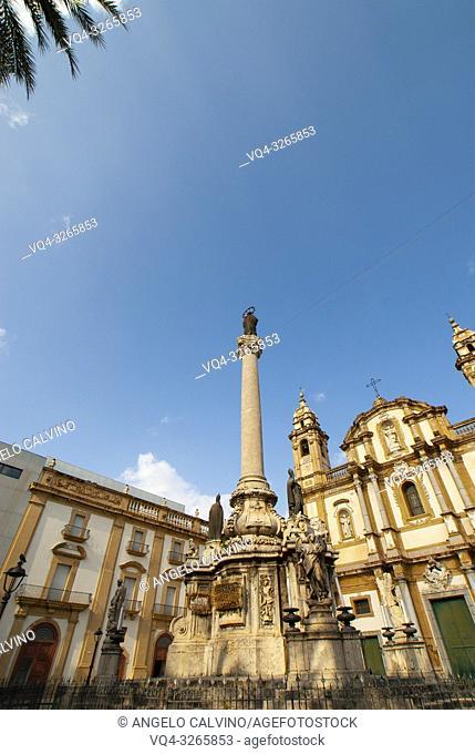 Chiesa di San Domenico, San Domenico Church, San Domenico Square, Palermo, Sicily, Italy, Europe