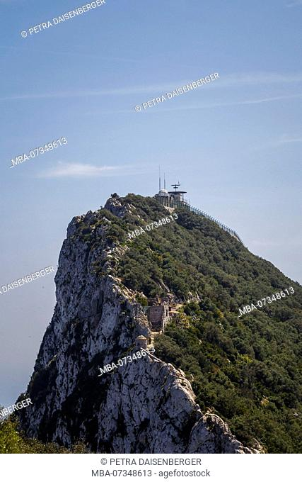 The Rock of Gibraltar, jewel and British enclave at the Mediterranean Sea