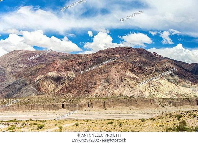 Andean view with river bed