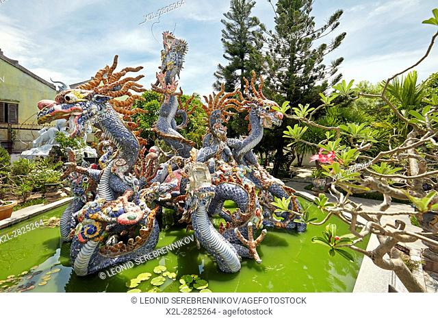 Dragon Fountain at the Cantonese (Quang Trieu) Assembly Hall. Hoi An Ancient Town, Quang Nam Province, Vietnam
