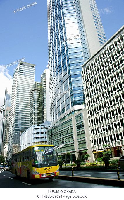 Skyscrapers on Ayala Avenue, Makati, Philippines