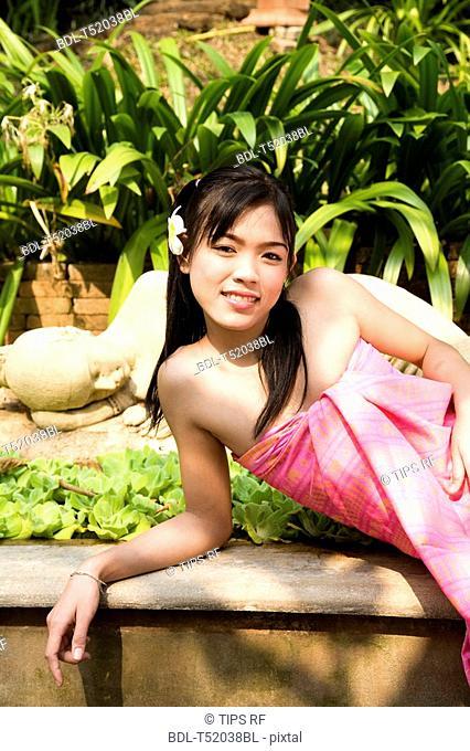 Thailand, Chiang Mai, thai woman's portrait