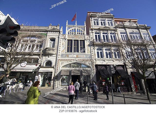 Livraria Lello bookstore, on January 7, 2017 in Oporto Portugal