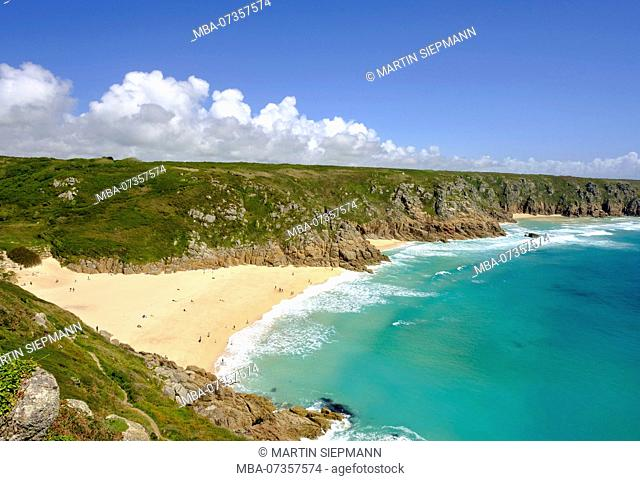Bay of Porthcurno, Porthcurno beach, Cornwall, England, UK