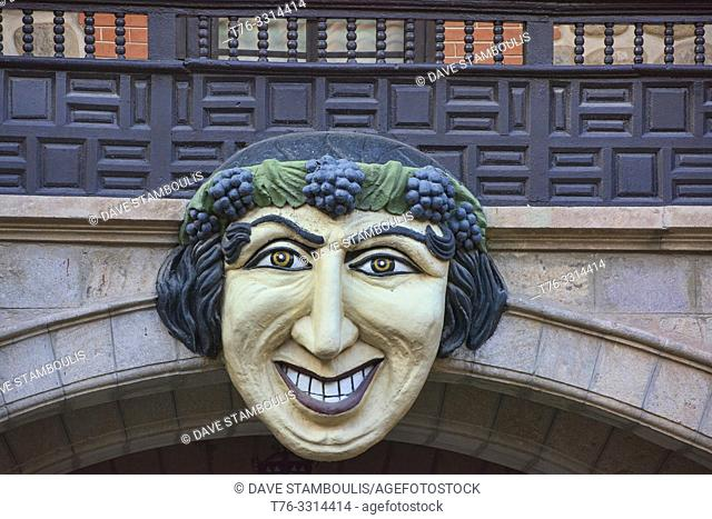 Bacchus mask in the courtyard of the Casa Nacional de la Moneda, Potosí, Bolivia