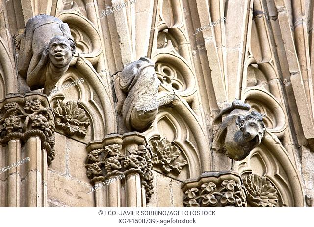 Gargoyles in San Ivo Portal Gothic Cathedral in Barcelona - Catalonia - Catalonia - Spain