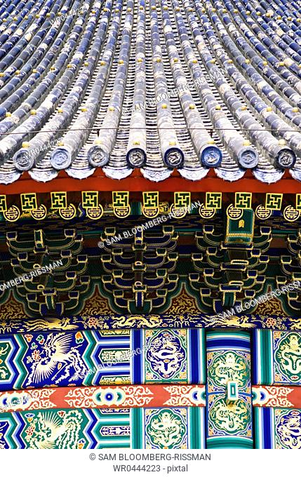 Tile Roof and Art on the Temple of Heaven