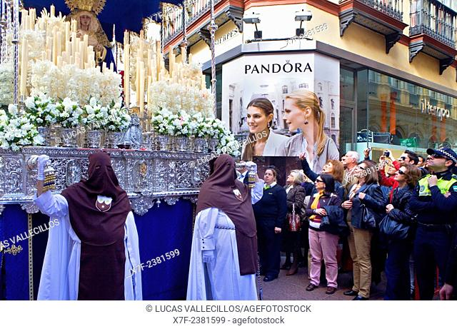 Holy Week procession.`El Carmen Doloroso'.Holy Wednesday. Seville. Spain