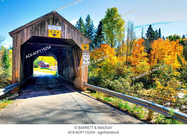 Trout Creek #4 Covered Bridge, Urney, Waterford, New Brunswick, Canada