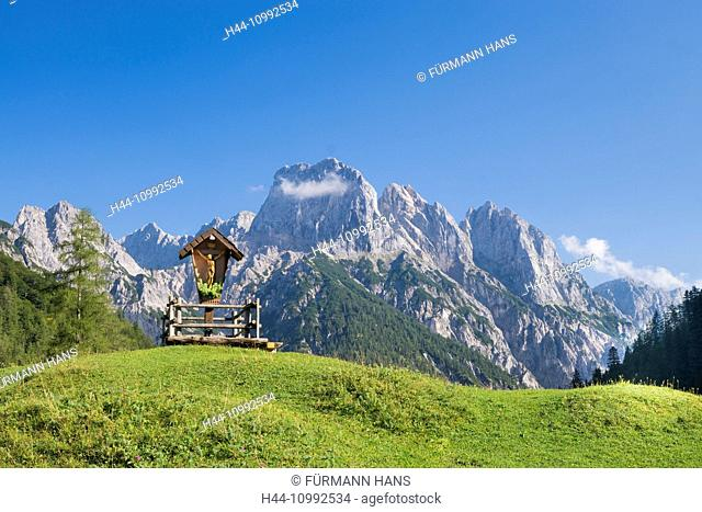 Bavaria, Germany, Upper Bavaria, Berchtesgaden area, Berchtesgaden, sky, blue sky, Alps, mountains, mountains, cliff, national park, park, summit, peak