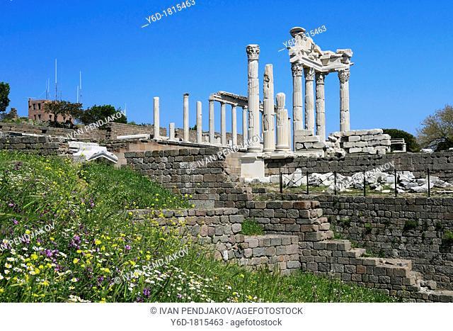 Temple of Trajan in Ancient Pergamon, Bergama, Turkey