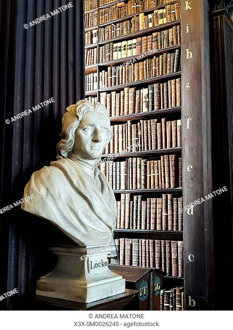 Trinity college library, Long Room, Dublin, Ireland, Europe
