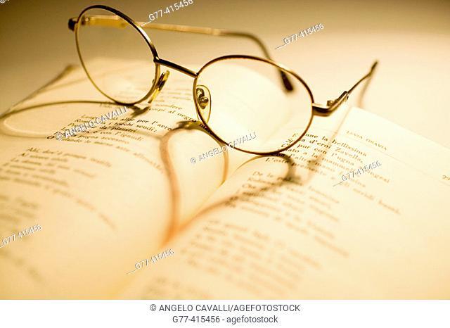 Glasses over love poems book