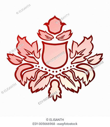Vector illustration of a red abstract flower