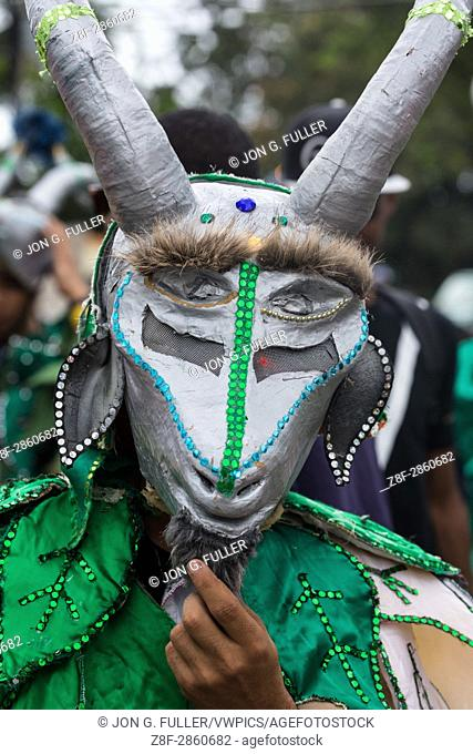 A goat costume in the La Vega Carnival parade. The first documented Carnival celebration in what is now the Dominican Republic was held in La Vega in 1520