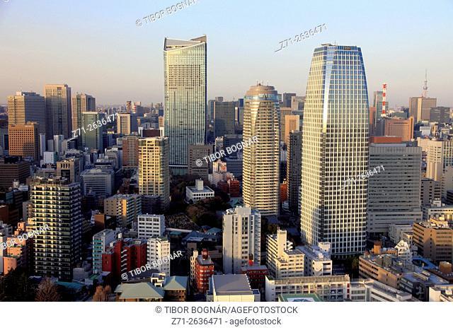 Japan, Tokyo, skyline, aerial view, panorama,