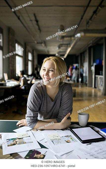 Creative businesswoman working in office