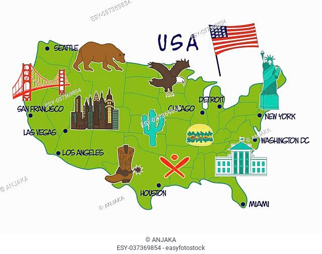 Las vegas map usa Stock Photos and Images | age fotostock