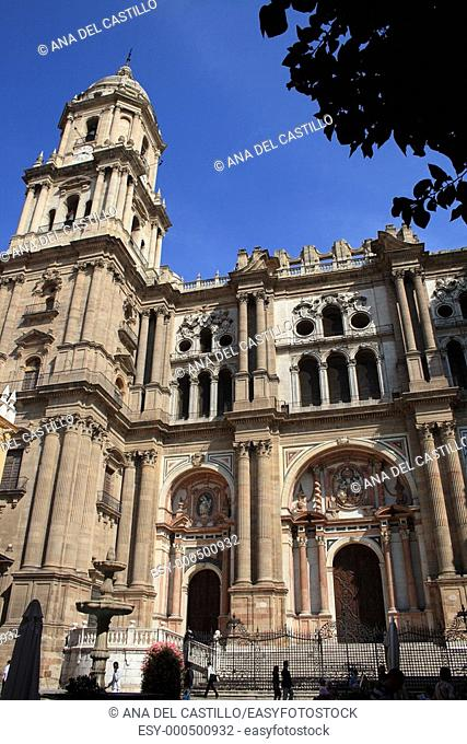 The Cathedral tower, Malaga, Costa del Sol, Spain