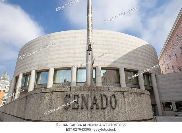 Spanish senate building in Madrid, Spain