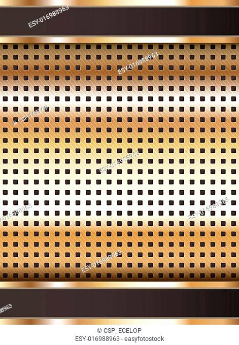 Background template, copper metallic texture
