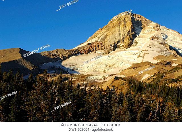 east face of Mount Hood volcanoe, Cascade Range, Oregon, USA