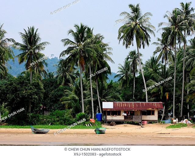 Scenery of Teluk Melano the Malay Fishing Village, Sarawak, Malaysia, Borneo