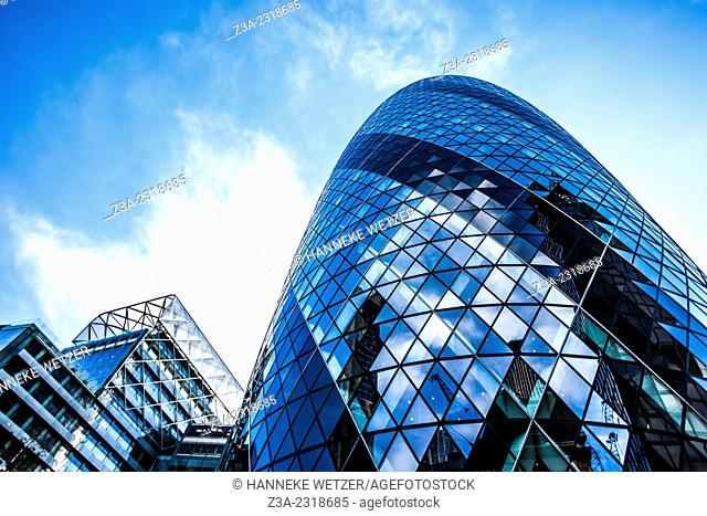 30 St Mary Axe (widely known informally as The Gherkin and previously as the Swiss Re Building) is a commercial skyscraper in London's primary financial...