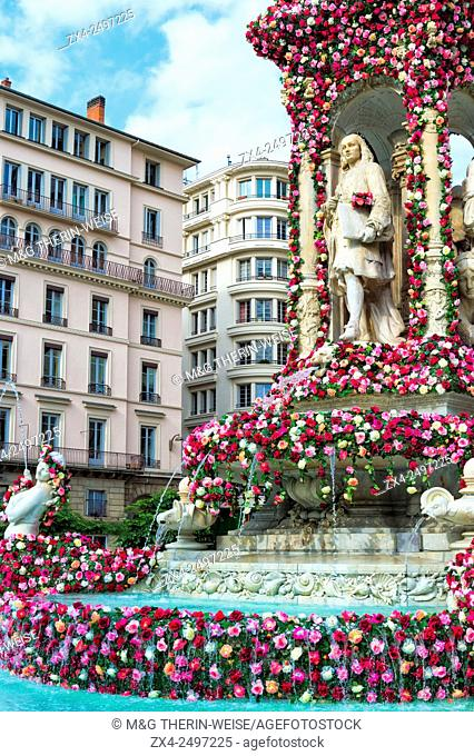 Jacobins square during the 17th World Convention of Rose Societies in 2015, Lyon, Rhone, France