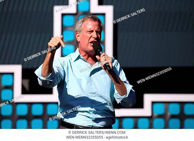 2017 Global Citizen Festival at The Great Lawn of Central Park Featuring: New York City Mayor Bill de Blasio Where: New York, New York