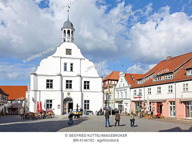 Town hall am Marktplatz, Wolgast, Mecklenburg-Western Pomerania, Germany