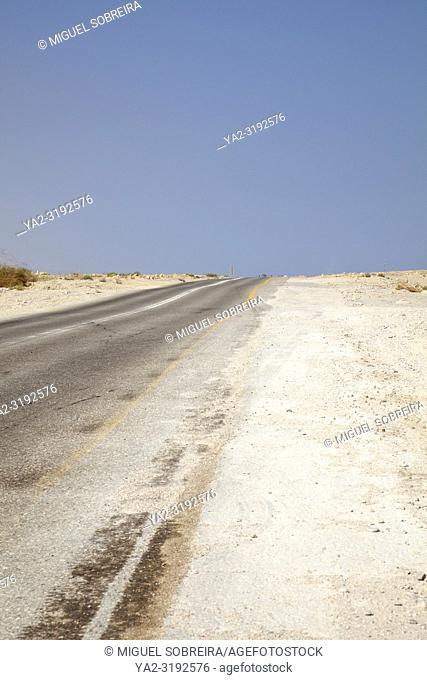 Judean Desert Road along Dead Sea in Israel