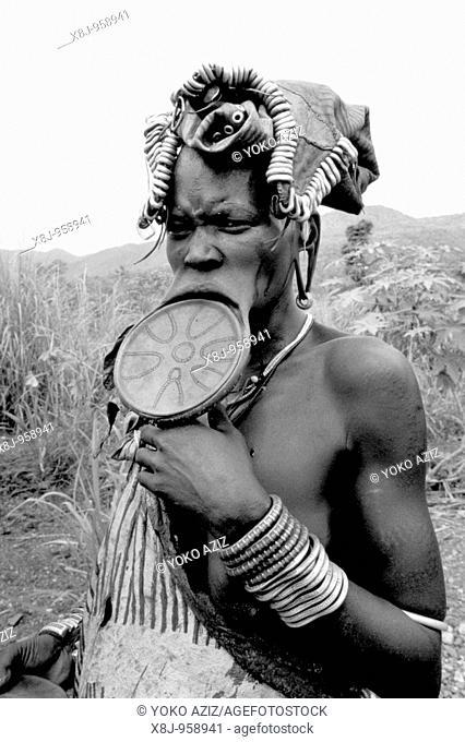 ethiopia, omo valley, mursi tribe