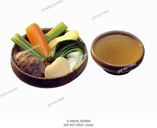 Pot-au-feu with broth