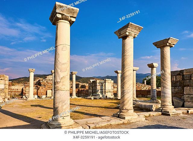 Turkey, Izmir province, Selcuk city, archaeological site of Ephesus, Basilica Saint John