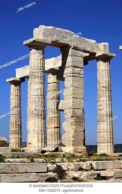 Remains of the temple of Poseidon, Cape Sounion, Greece