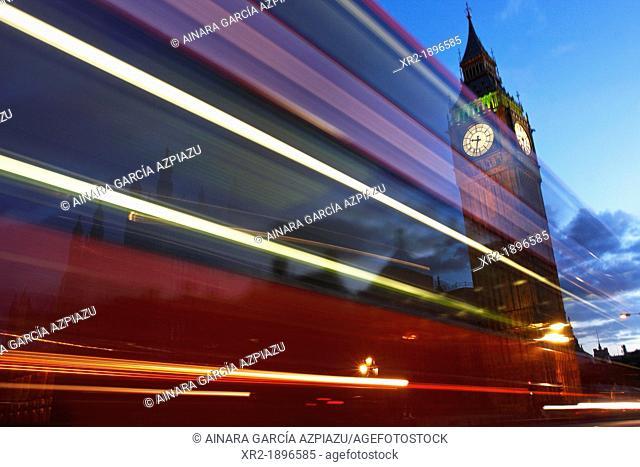 Blue hour in Westminster Bridge, London, United Kingdom