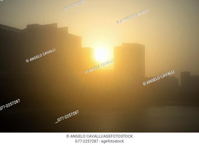 Sunset over Abu Dhabi, UAE