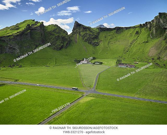 Farmland, The Eyjafjoll area, South Coast, Iceland