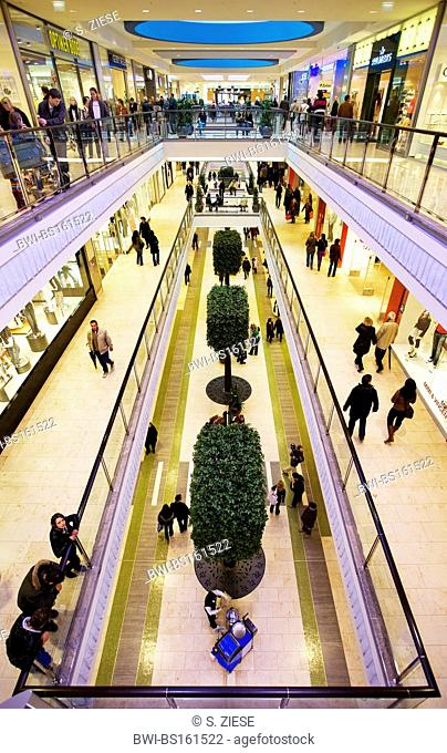 interior view of the shopping centre Limbecker Square in the city, Germany, North Rhine-Westphalia, Ruhr Area, Essen