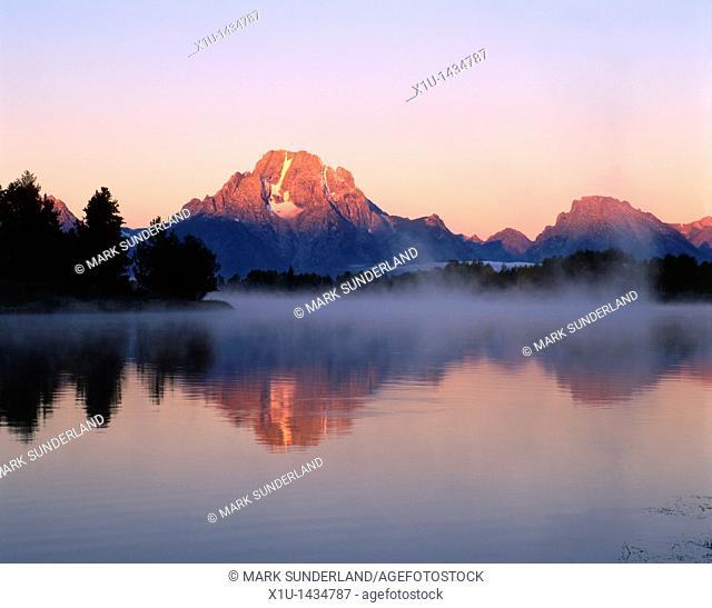 Mount Moran, Sunrise