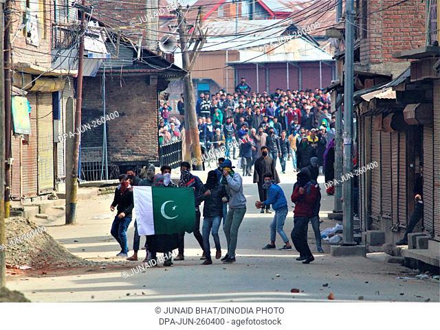 kashmiri Muslim protester, baramulla, Kashmir, India, Asia
